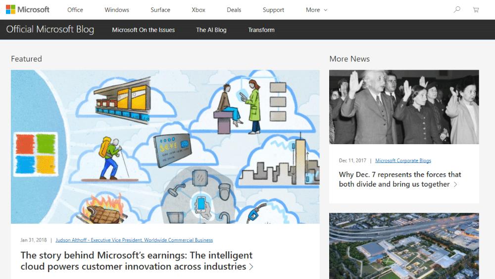 وبلاگ رسمی مایکروسافت